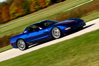 Car-Corvette-Blue Gray Red Stripes