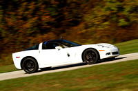 Car-Corvette White Black Top